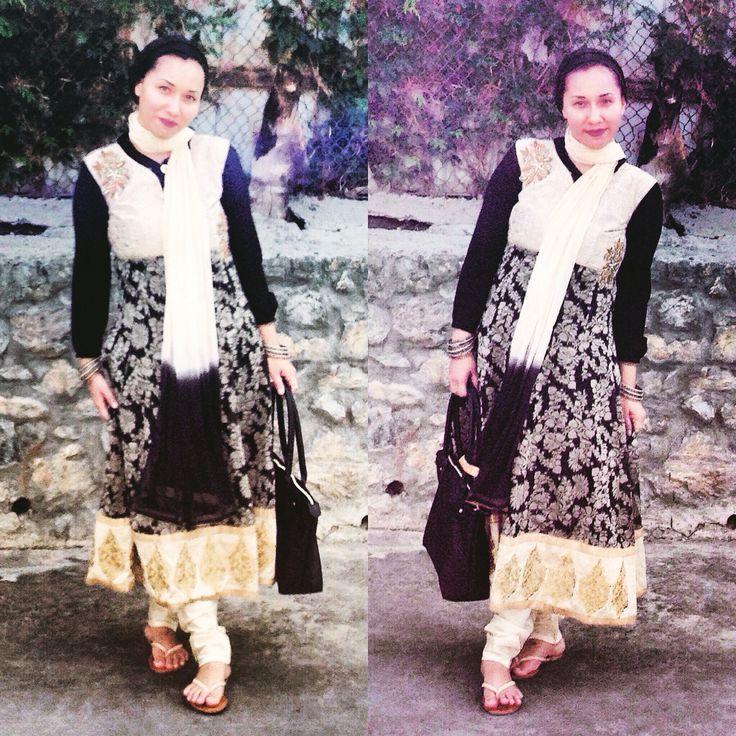 Love this outfit #indiankurtaskurtis