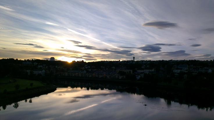 Morning at Nidelven river, Trondheim.