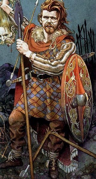 ( - p.mc.n.) warrior Celt