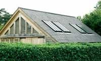 Glass gable and CONSERVATION rooflights