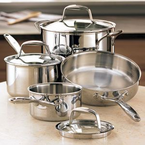 The Pampered Chef Stainless Steel Cookware