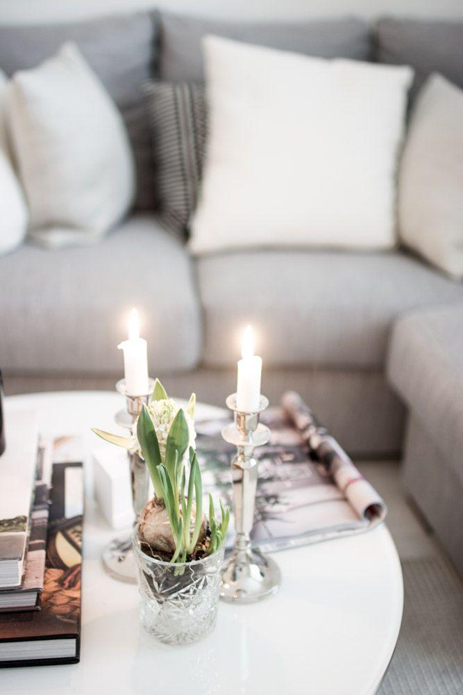 magnoliabymia | living room | hyacinths | candles