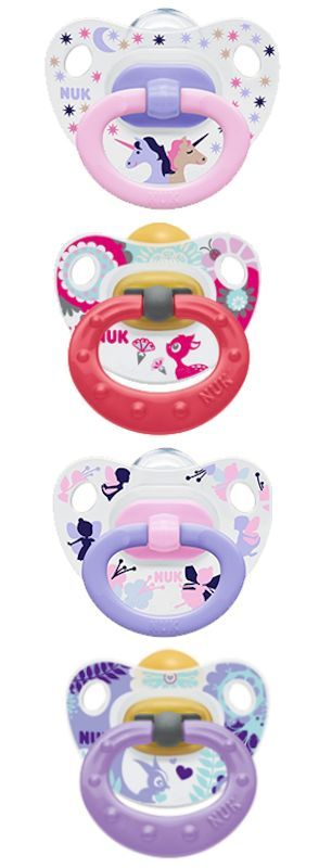 NUK 6-18 months babies pacifiers.