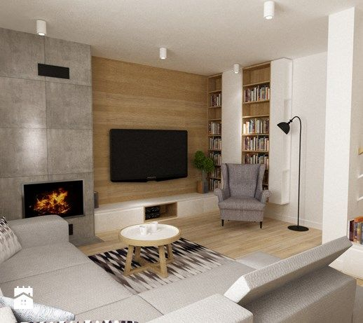 dom Białołęka 200m2 - Średni salon, styl nowoczesny - zdjęcie od Grafika i…