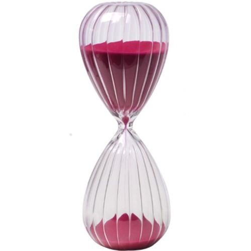 120 Minute 2 Hour Hot Pink Sand Glass Hourglass Timer
