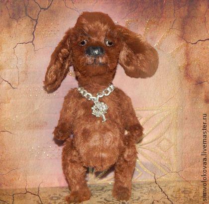 Старый друг Рексик . - коричневый,друг тедди,символокова,собачка,подарок