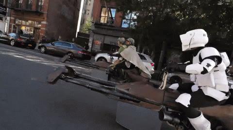 Mit dem Speeder durch die City.. | Lustige Bilder, Sprüche, Witze, echt lustig