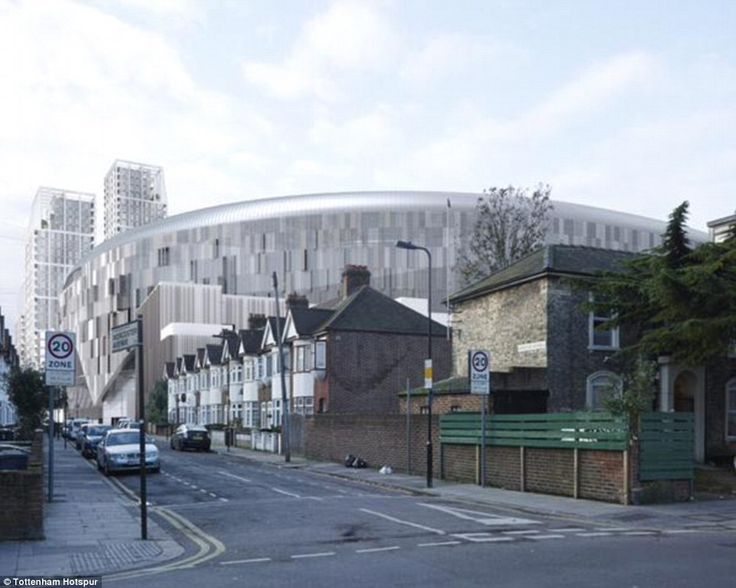 An artist's impression of how Tottenham's new stadium will look once it is completed in the summer of 2018