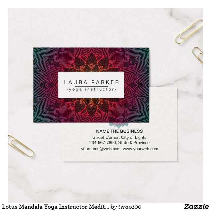 108 best Yoga Instructor Business Cards images on Pinterest | Lotus ...