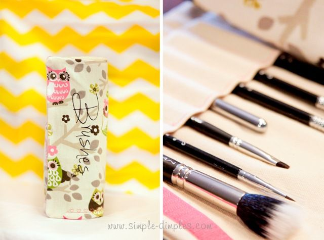 DIY Makeup Brush Pouch Tutorial