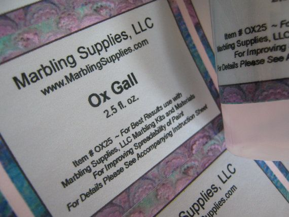 Marbling Ox Gall Marbling Supplies