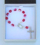Ruby Handheld Rosary Beads.