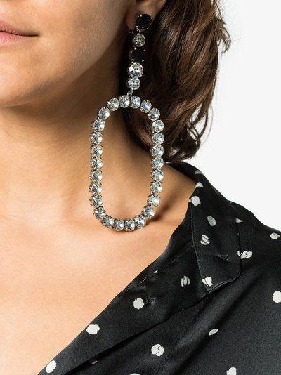 d1d9711fc145 Saint Laurent XL Smoking oval drop crystal earrings