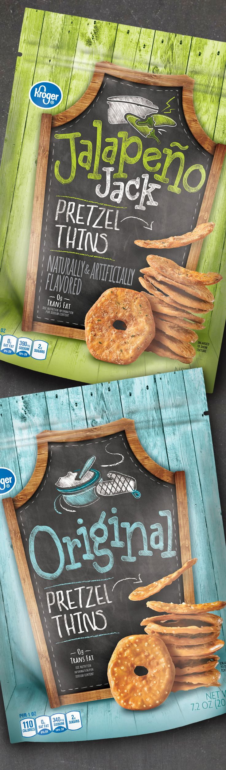 Pretzel Thins - Packaging designed by Design Resource Center http://www.drcchicago.com/