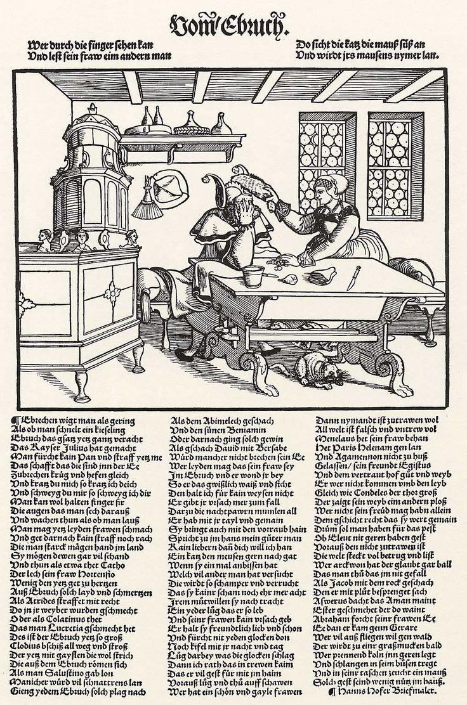 Artist: Flötner, Peter, Title: Der Ehebruch, Date: ca. 1532