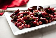 Beet and Chickpea Salad - tastes great with a little feta crumbled on top - beets are a health wonder food too!