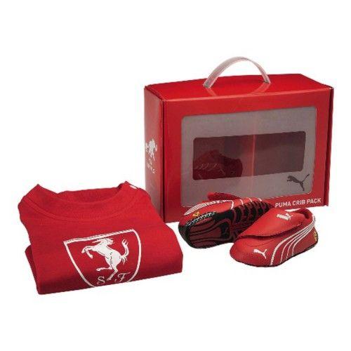 Puma Set Scuderia Ferrari baby  #ferrari #ferraristore #red #cavallinorampante #prancinghorse #kids #infants #baby #scuderiaferrari #puma #set #tshirt #shoes