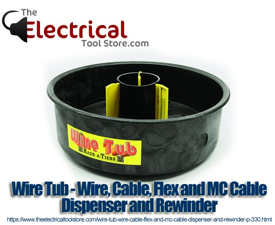 Wire Tub Wire Cable Flex And Mc Cable Dispenser And
