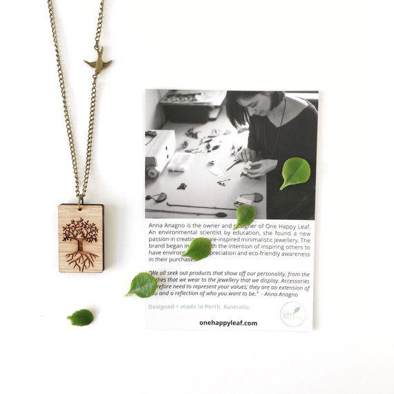 Levensboom ketting  lasercut houten jewellery  houten hanger