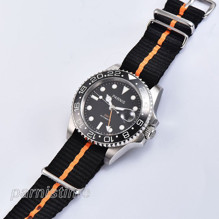 40mm Parnis GMT Automatic Men Watch Sapphire Rotating Bezel Sprots Wristwatch