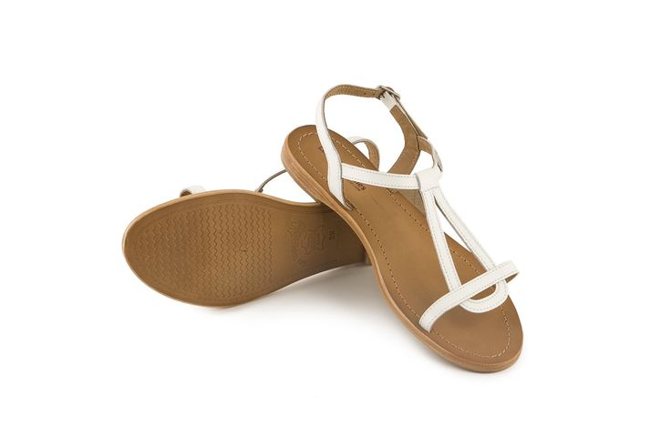 Sandalo Les Tropeziennes Hamess in pelle bianca. White leather sandal! www.calzaveste.it