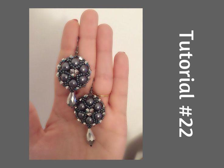 TUTORIAL PERLINE [22] - Orecchini Ufo, perle da 8mm e bicono. (Beading t...