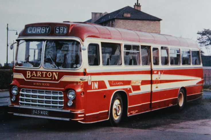 Barton Transport Yeates 'Europa' bodied AEC Reliance, fleet no.945, operating the X58 service from Glasgow to Corby