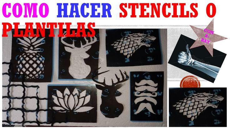 COMO HACER STENCILS O PLANTILLAS CON RADIOGRAFIAS / MAKE YOUR OWN STENCI...