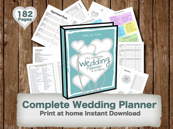 Printable Wedding Planner Binder Planning A Rustic