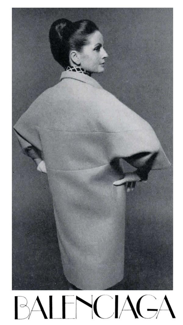 Ciao Bellísima - Vintage Glam; Model wearing Balenciaga, 1964