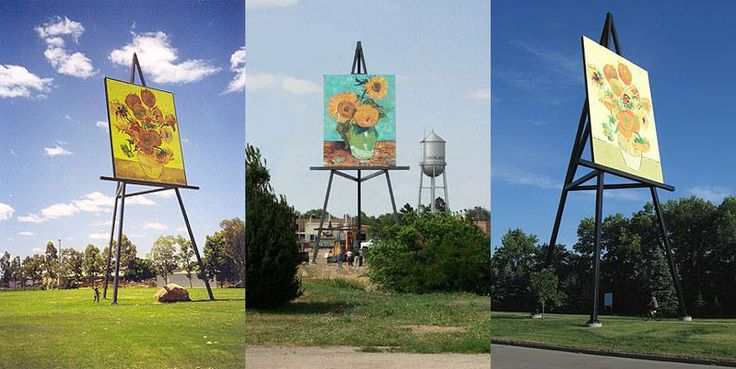 Have you ever heard of the Big Easel Van Gogh Project?  Check it out: http://www.thebigeasel.com/web/vangoghproject.html