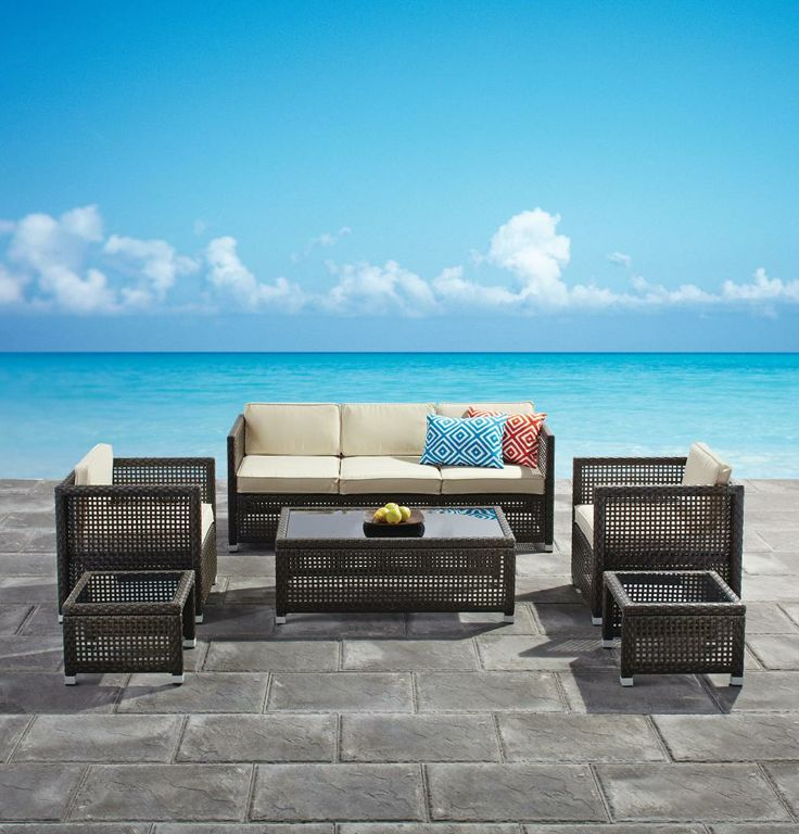 Patio 2014 Collection  Seville Conversation by GlucksteinHome. 192 best Patio Perfection images on Pinterest   Patios  Folding