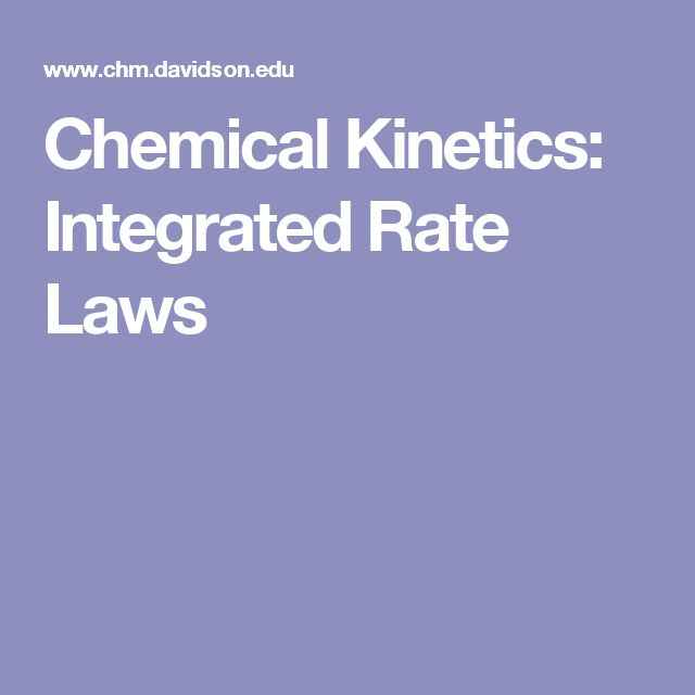 Chemical Kinetics: Integrated Rate Laws