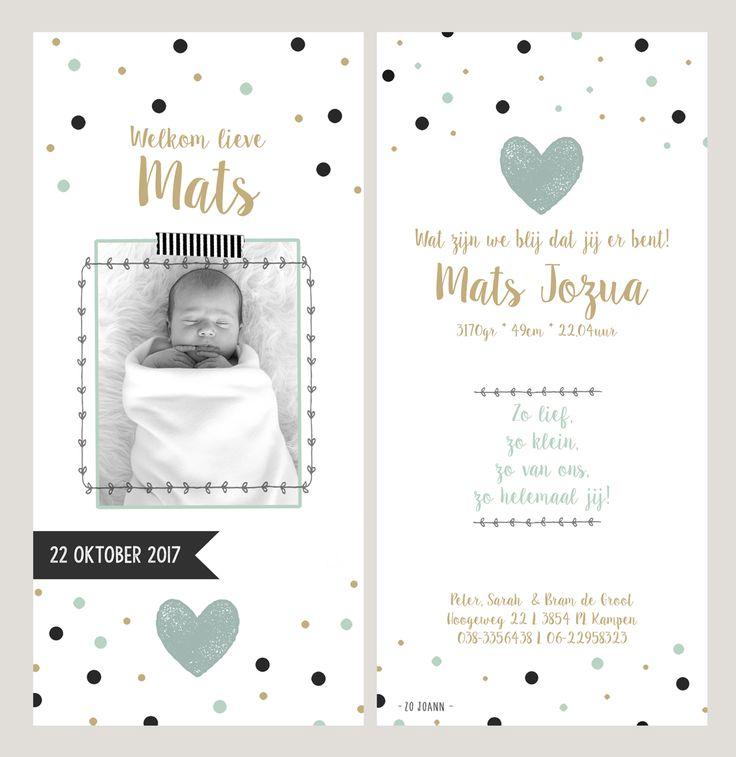 #geboortekaartje voor een jongen: info@zojoann.nl #birthannouncement #geboortekaartjes
