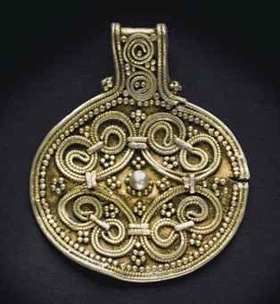 A viking gilt silver pendant