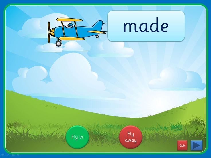 An interactive PowerPoint, linked to Letters and Sounds (Phase 5), that can be worked through at your own pace. Each slide has up to four high frequency words included and they can be viewed individually. The words 'fly in' attached to old fashioned planes and can 'fly out' once viewed. This presentation could be used for small groups and individual children in addition to whole class teaching. The Comic Sans activity is editable while the others use an embedded font (SassoonInfant)