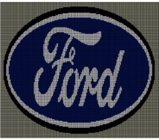 Crochet Pattern Excel : Ford Crochet Afghan Pattern Graph, USD5.00... Pattern now ...