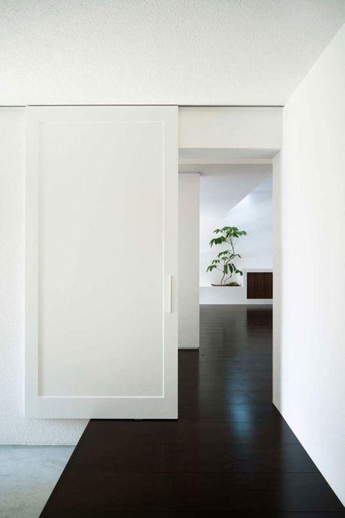 sleek sliding door