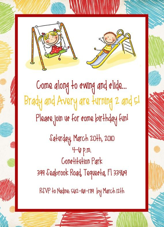 Printable Joint Birthday Party Invitations ~ Best joint birthday party invitation images on pinterest combined parties