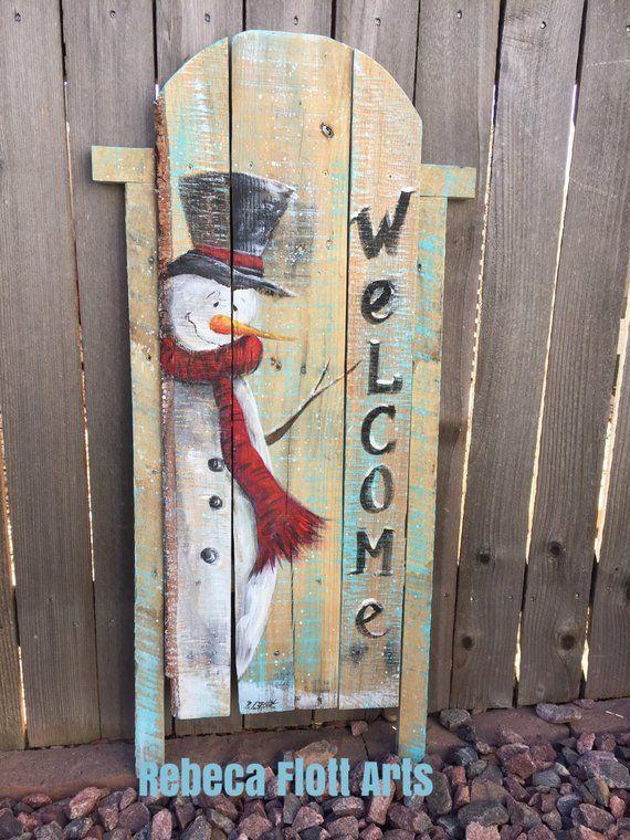 Items similar to Wood Slide, snownan on pallet wood