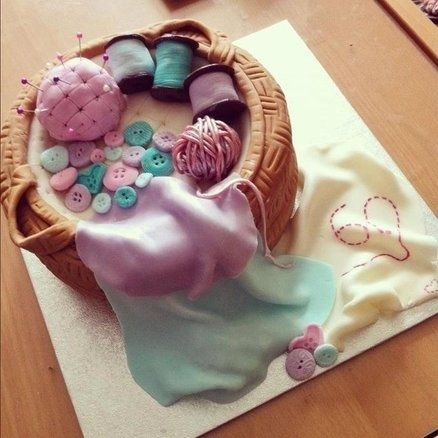 Sewing Basket Cake | 25 Craft-Inspired Desserts That Are (Almost) Too Cute To Eat