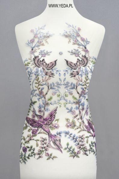 Koronka ML14409 FIOLET Doskonała na suknie koktajlowe lub wieczorowe. Idealna dla druhen, świetnie prezentuje się na przyjęciach weselnych,studniówkach lub balach sylwestrowych.