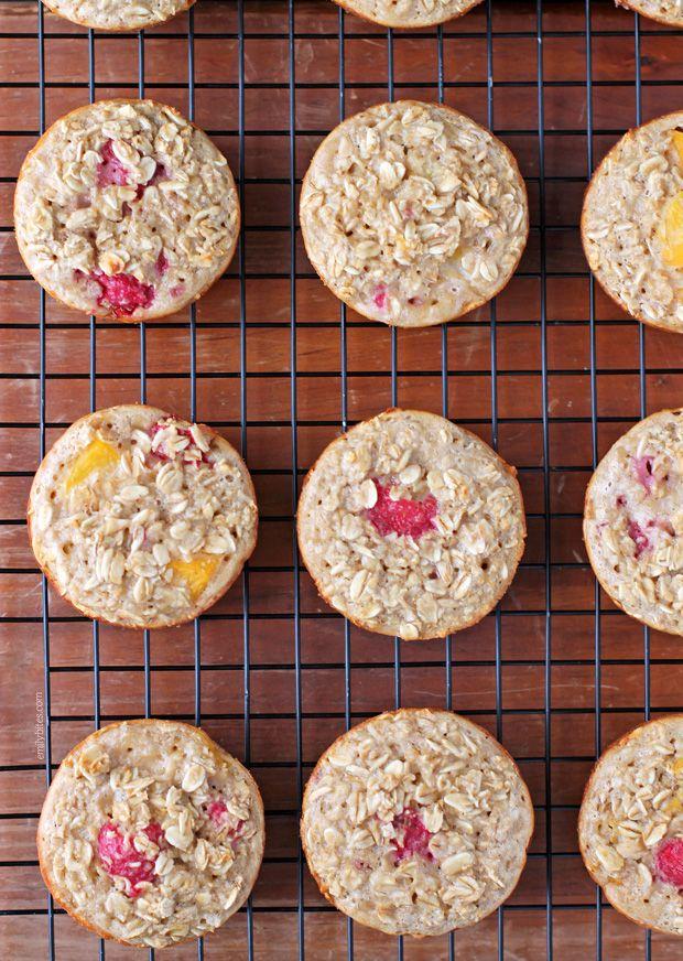 Raspberry Peach Baked Oatmeal Singles - ww - 3 sp