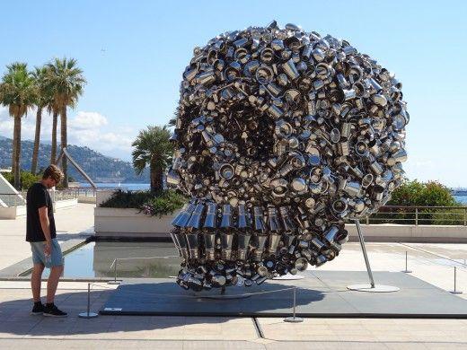 Unusual sculpture in Monaco