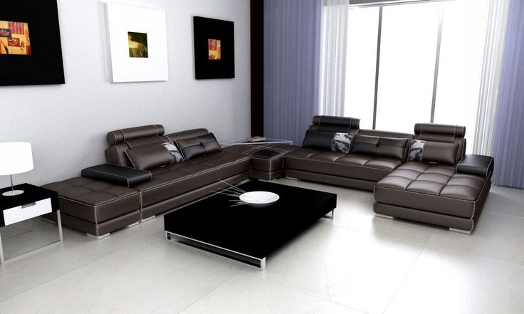 25 best ideas about leather sectional sofas on pinterest - Decoration salon cuir marron ...