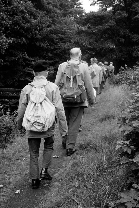 © Martin Parr/Magnum Photos GB. England. West Yorkshire. Todmorden. Todmorden Natural History Society ramble to Lumb Falls. 1977.