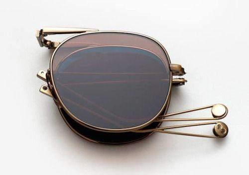 // folding sunglasses.