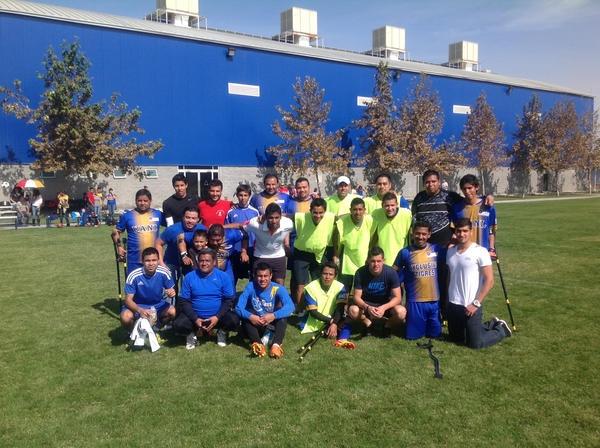 Este domingo, los jugadores de Tigres, Hugo Ayala, Manuel Viniegra, Elías Hernández, Israel Jiménez y Alonso Zamora, conviven con equipo de la UANL con capacidades diferentes. ¡Esto es Tigres!