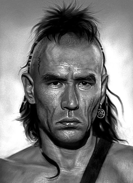 """Wes Studi in """"Last of the Mohicans"""". Wes is a native american of the Cherokee Nation."""