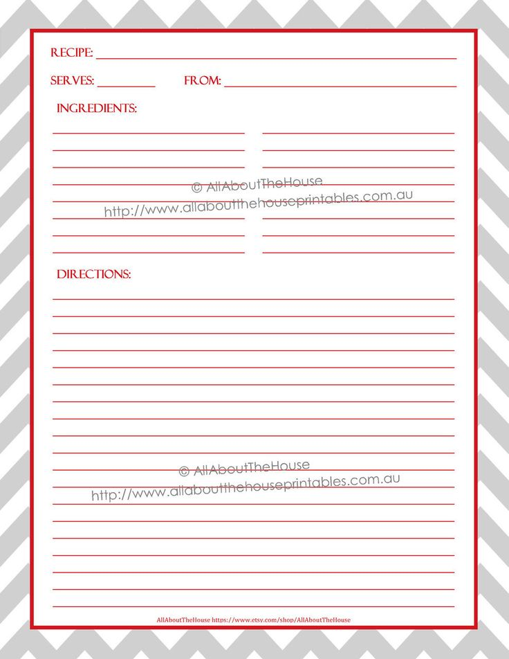 Printable Recipe Binder Cover Editable Recipe Sheet Dividers - editable lined paper